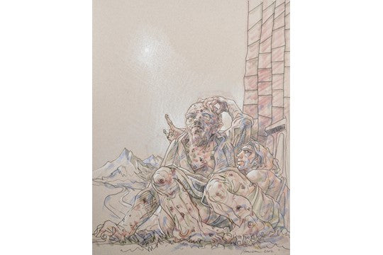 Original Brighter Day by Peter Howson