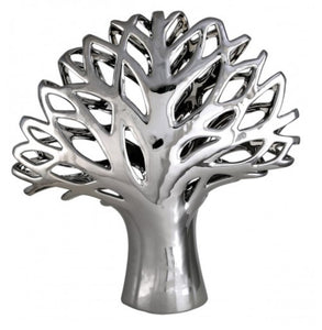 Silver Ceramic Medium Tree