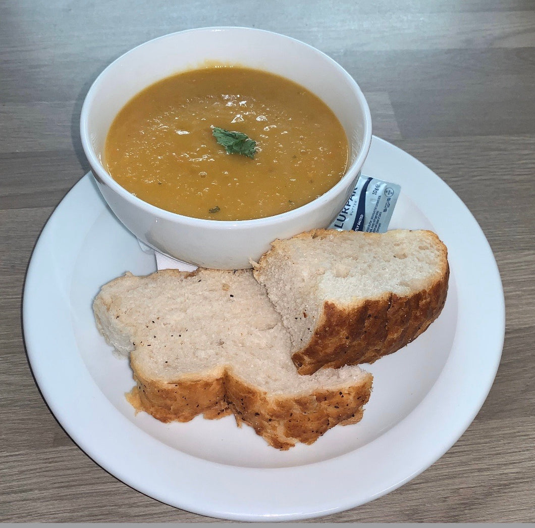 Soup of The Day with Crusty Bread - Art Cafe