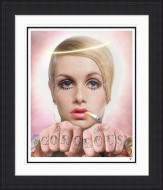 Drop Dead - Twiggy Colour by JJ Adams framed