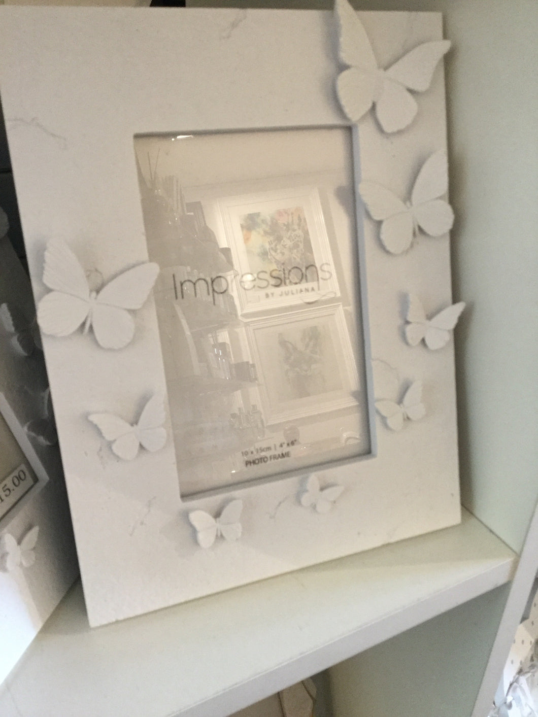 Widdop - Impressions White butterfly Photo Frame 6