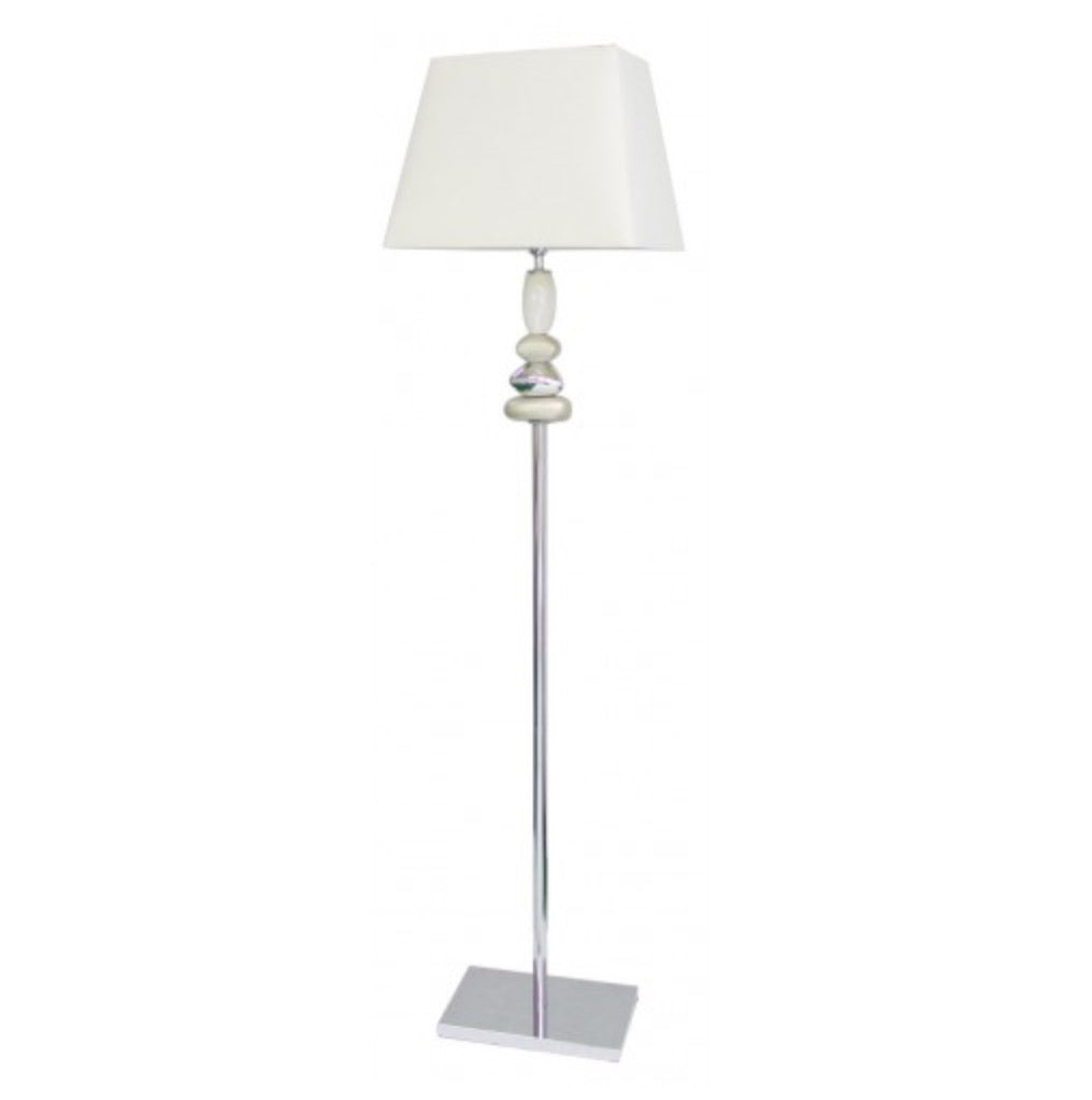Champagne & Chrome Pebble Floor Lamp