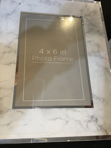 Grey Marble Photo Frame 4x6 by Cimc