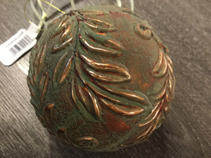 Large Green & Copper Rustic Bauble by Floralsilk