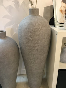 Large Concrete Effect Grey Vase by Wilde Java