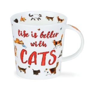 Life is Better with Cats Mug by Dunoon