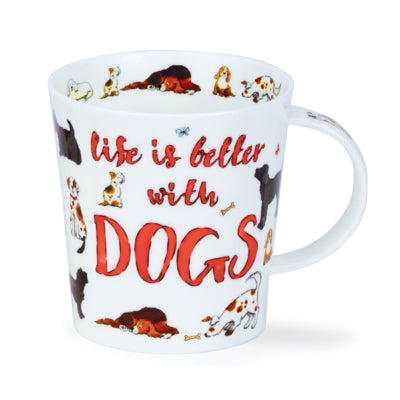 Life is Better with Dogs Mug by Dunoon