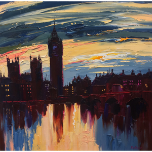 Original London Dusk by Lynn Rodgie