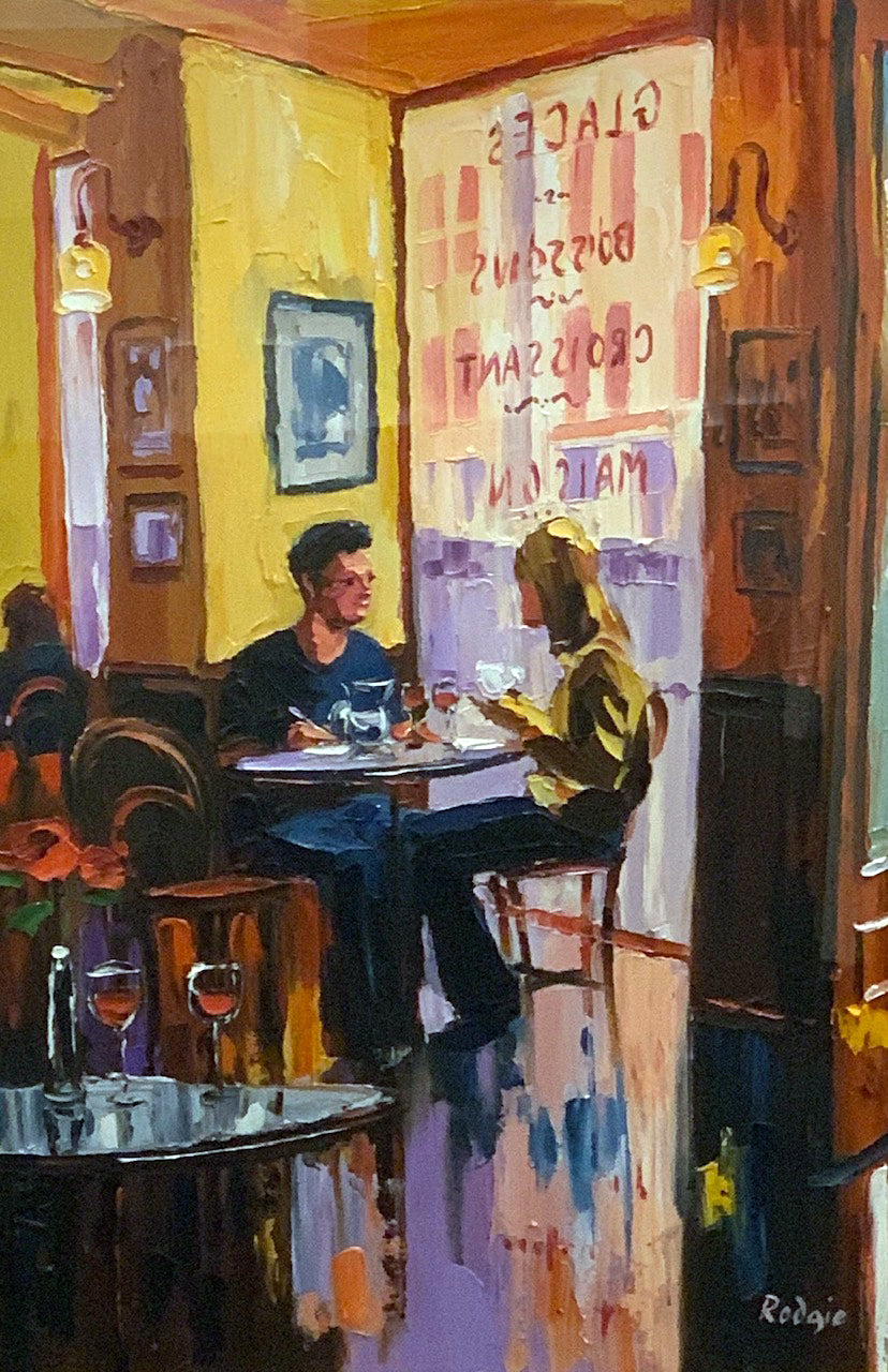 Original Lunch At Cafe Rouge by Lynn Rodgie