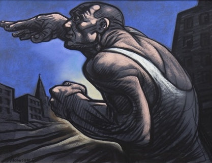 Original Mean City by Peter Howson