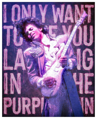 Original Laughing in the Purple Rain by Monica Vincent