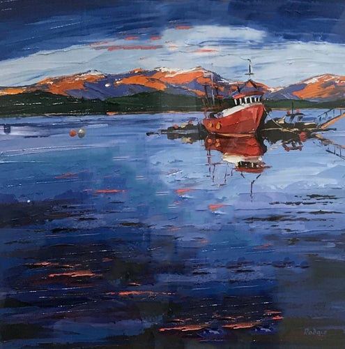 Original Red Fisherboat by Lynn Rodgie