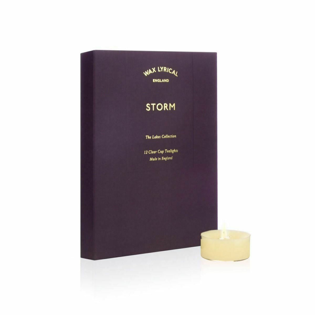 Storm Tealights pack of 12 by Wax Lyrical
