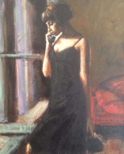 Original The Phone Call by Fabian Perez