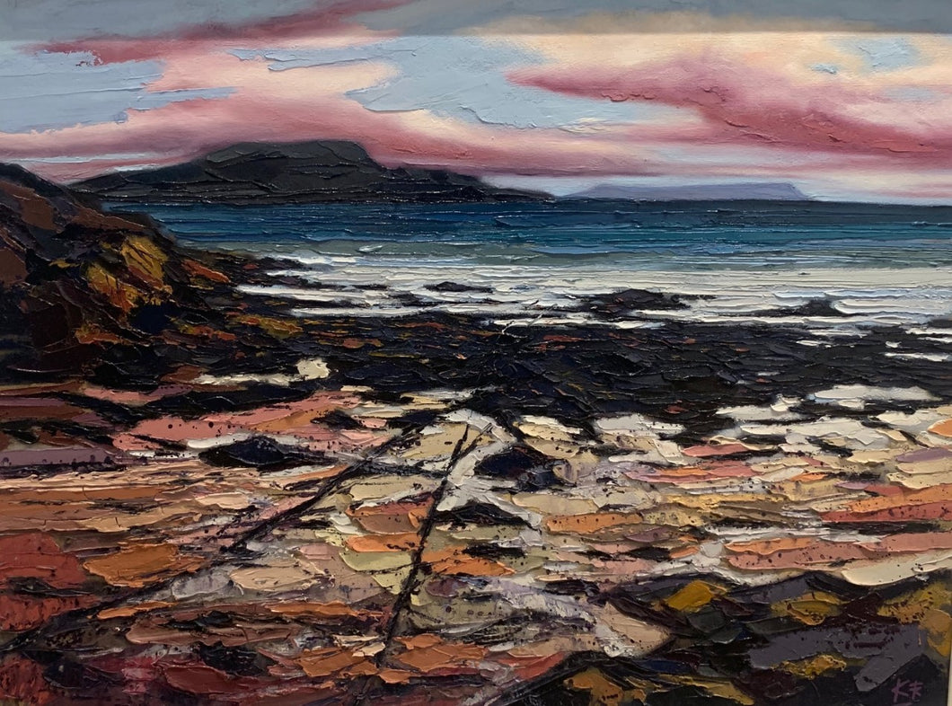 Original View To Eigg by Kerr Rodgie
