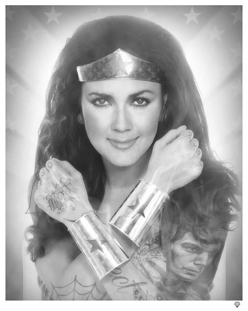 Wonder Woman (Black and White) by JJ Adams