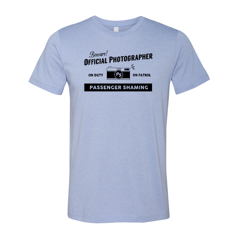 Official Passenger Shaming Photographer Tee - UNISEX