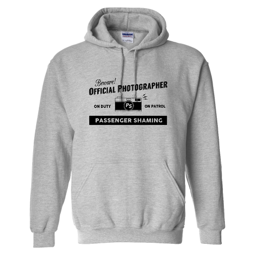 Official Passenger Shaming Photographer Hoodie - UNISEX