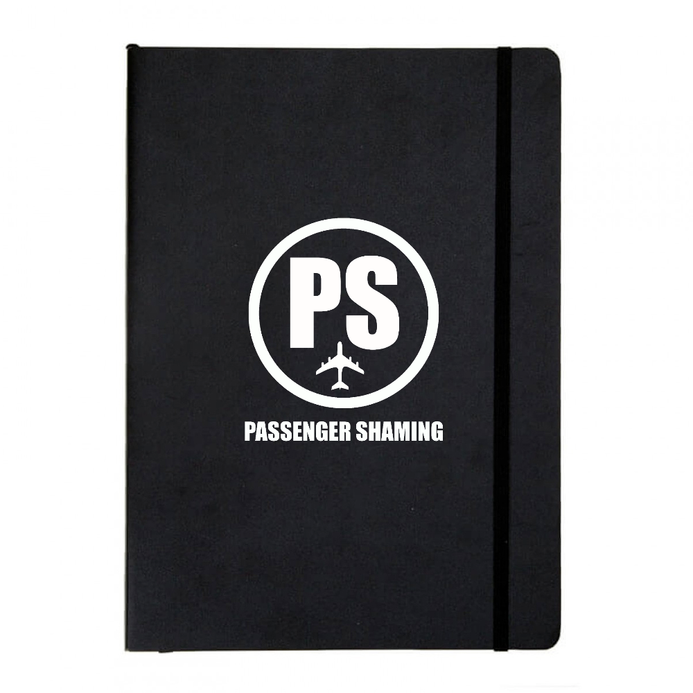 Passenger Shaming Logo Basic Black Notebook