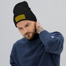 4 Stripes Embroidered Pilot Beanie - UNISEX - 3 COLORS