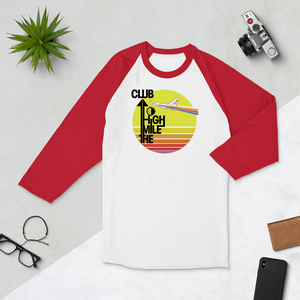 "Retro ""Mile High Club"" Raglan Tee - Unisex - 4 COLORS"