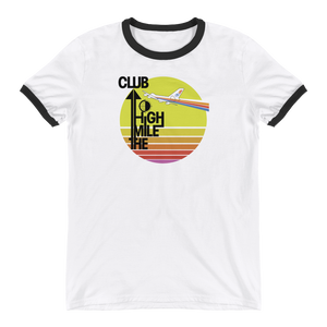"Retro ""Mile High Club"" Unisex Ringer Tee"