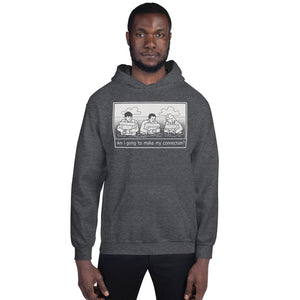 """Am I Going To Make My Connection?"" Cartoon Hoodie - UNISEX - 7 COLORS"