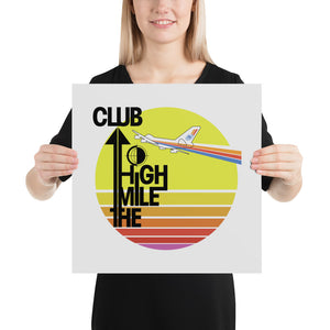 """The Mile High Club"" Retro Print"