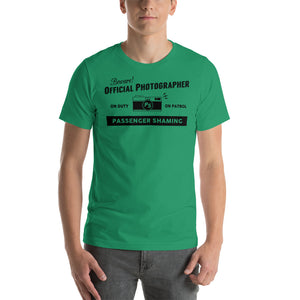 Official Passenger Shaming Photographer Tee - UNISEX - 6 COLORS