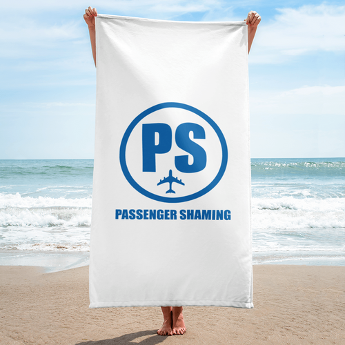 Passenger Shaming Logo Towel