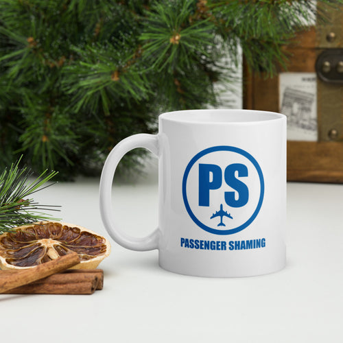 Official Passenger Shaming Logo Mug - 11oz