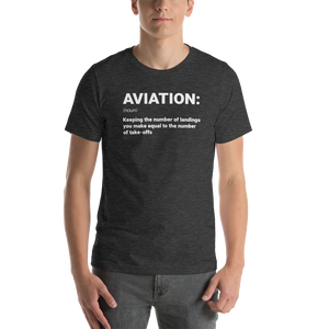 """AVIATION"" Defined Tee - UNISEX - 10 COLORS"