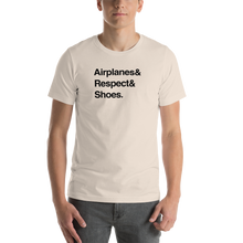 """Airplanes & Respect & Shoes"" Helvetica Tee - UNISEX - 8 COLORS"