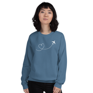 """Just Plane Love"" Crewneck Sweatshirt - UNISEX - 8 COLORS"
