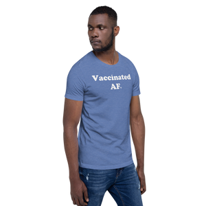 """Vaccinated AF"" Travel Tee - Unisex - 8 COLORS"