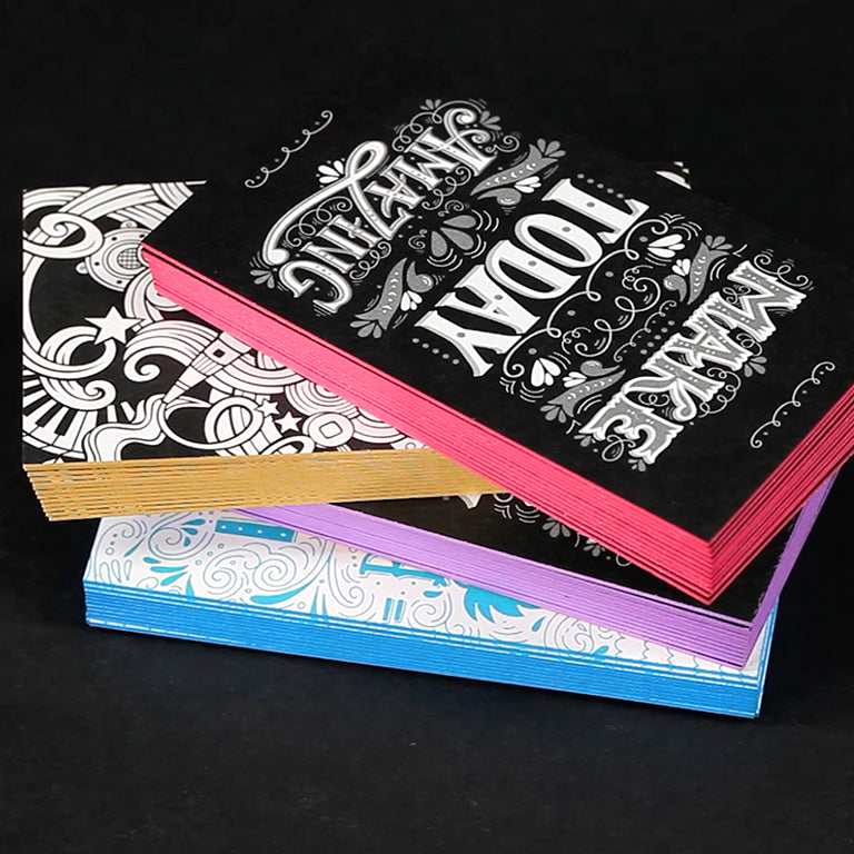 Fabulous Cool Painted Edge, Hang tags, Business cards and more!
