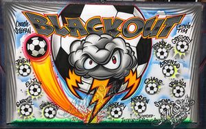 Airbrush Soccer Banner for Blackout League