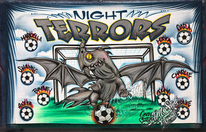 Night Terrors Airbrush Soccer Banner