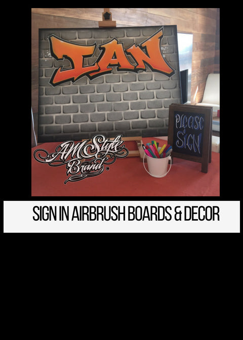 Airbrush Graffiti sign in boards