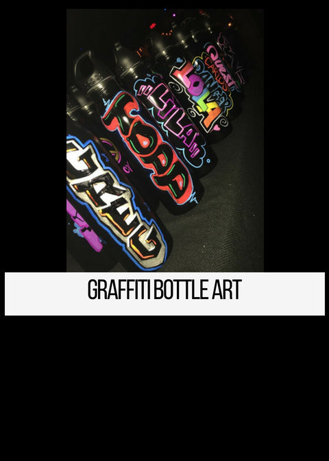 Graffiti Airbrush Bottle Art