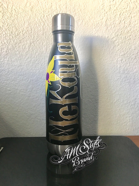 Bottle Art *Add your own name, Font style and color choices.