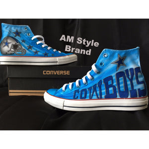 Airbrush Cowboys Shoes Converse High Tops