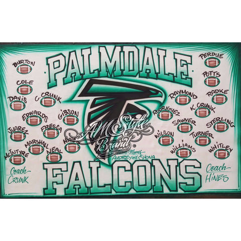 Airbrush Football Team Banner