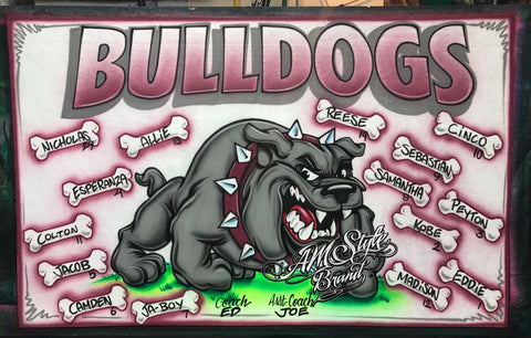 Airbrush Baseball Team Banners