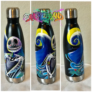 Nightmare Before Christmas Original Painting Water Bottle Art