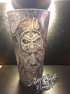 Aztec Theme Cup, Original Custom Art!