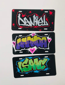 Custom Personalized Graffiti License Plates