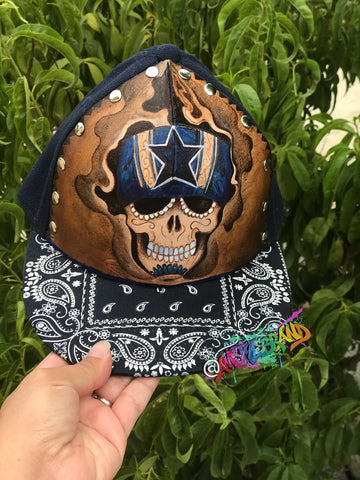 Cowboys snapback Leather Tooled art