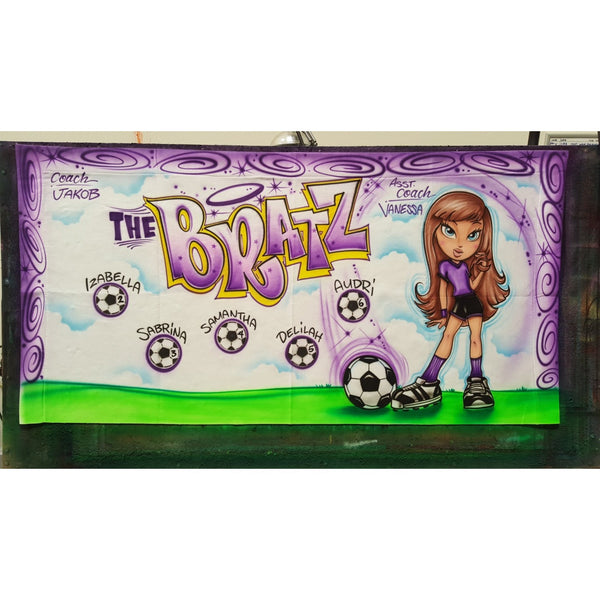 Airbrush Soccer and Sports Team Banners, Personalized Airbrush Banners - Made to order