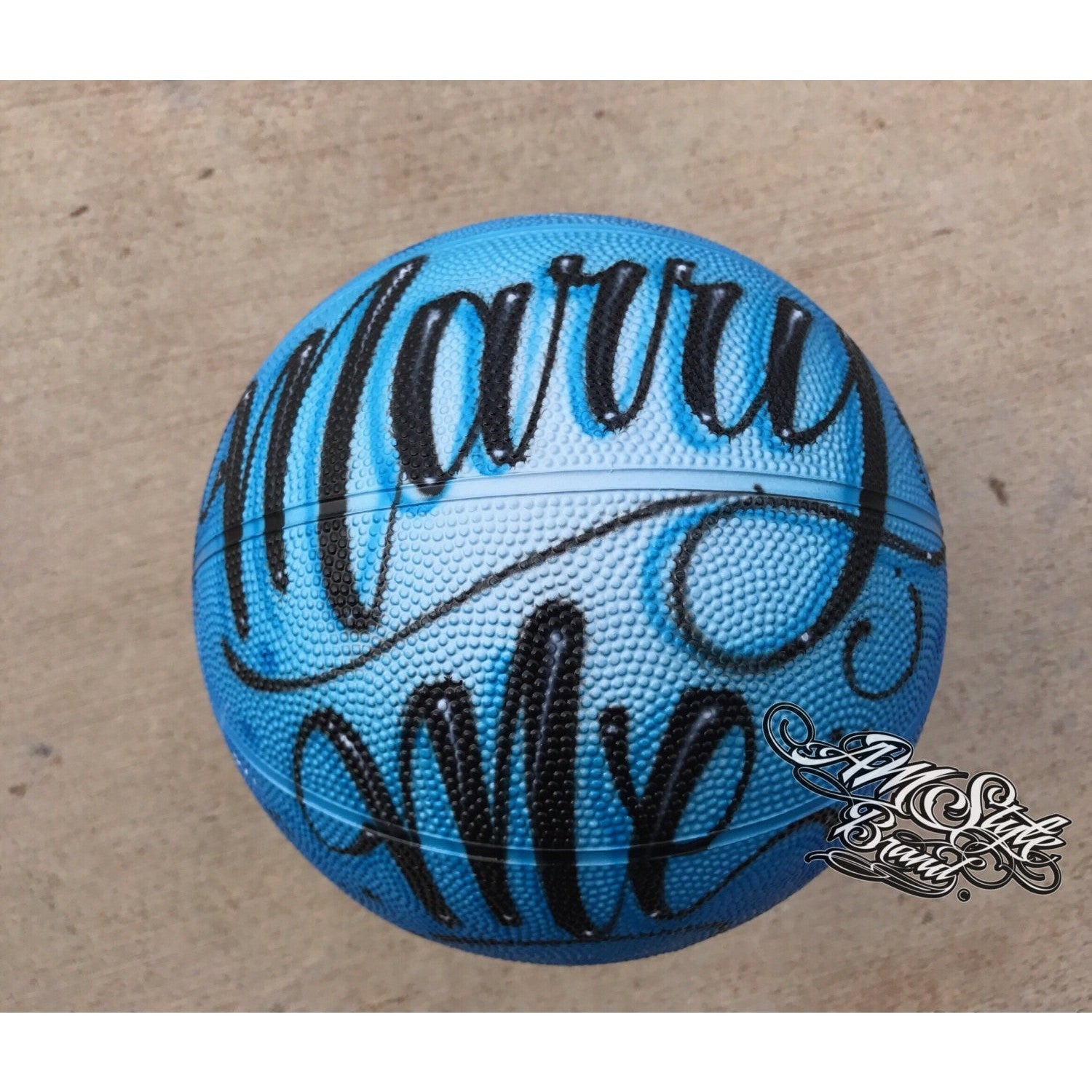 Airbrush Basketballs, Makes a great Party Favor or Gift Idea, Names on Basketballs, Custom and Made to Order.